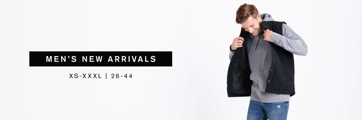 Men's New Arrivals XS-XXXL | 26-44