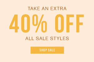 In store + online. Limited time only. Take an extra 40% off all sale styles. Shop sale.