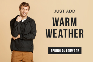 Just add warm weather. Shop spring outerwear.