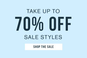 Take up to 70% off sale styles. Shop the sale.